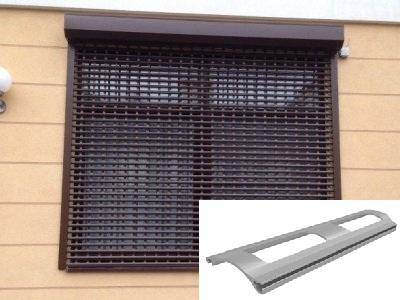 Роллетная решетка на окнах