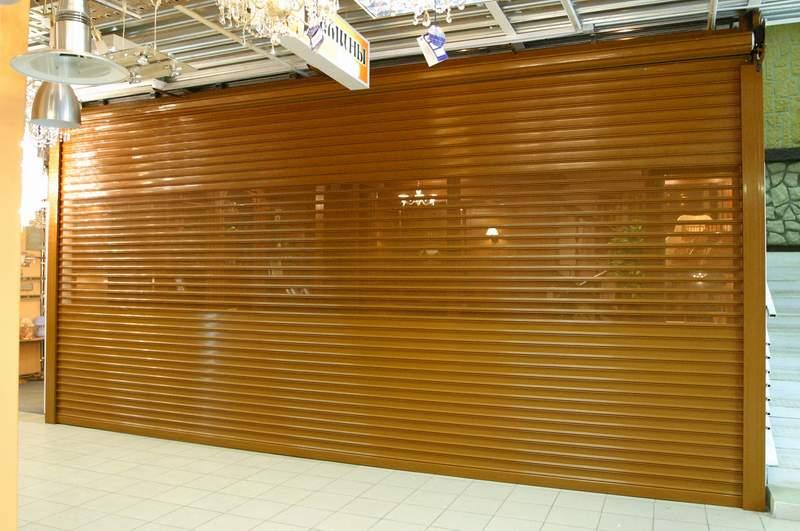 Стальные Рольставни в магазин в торговом центре