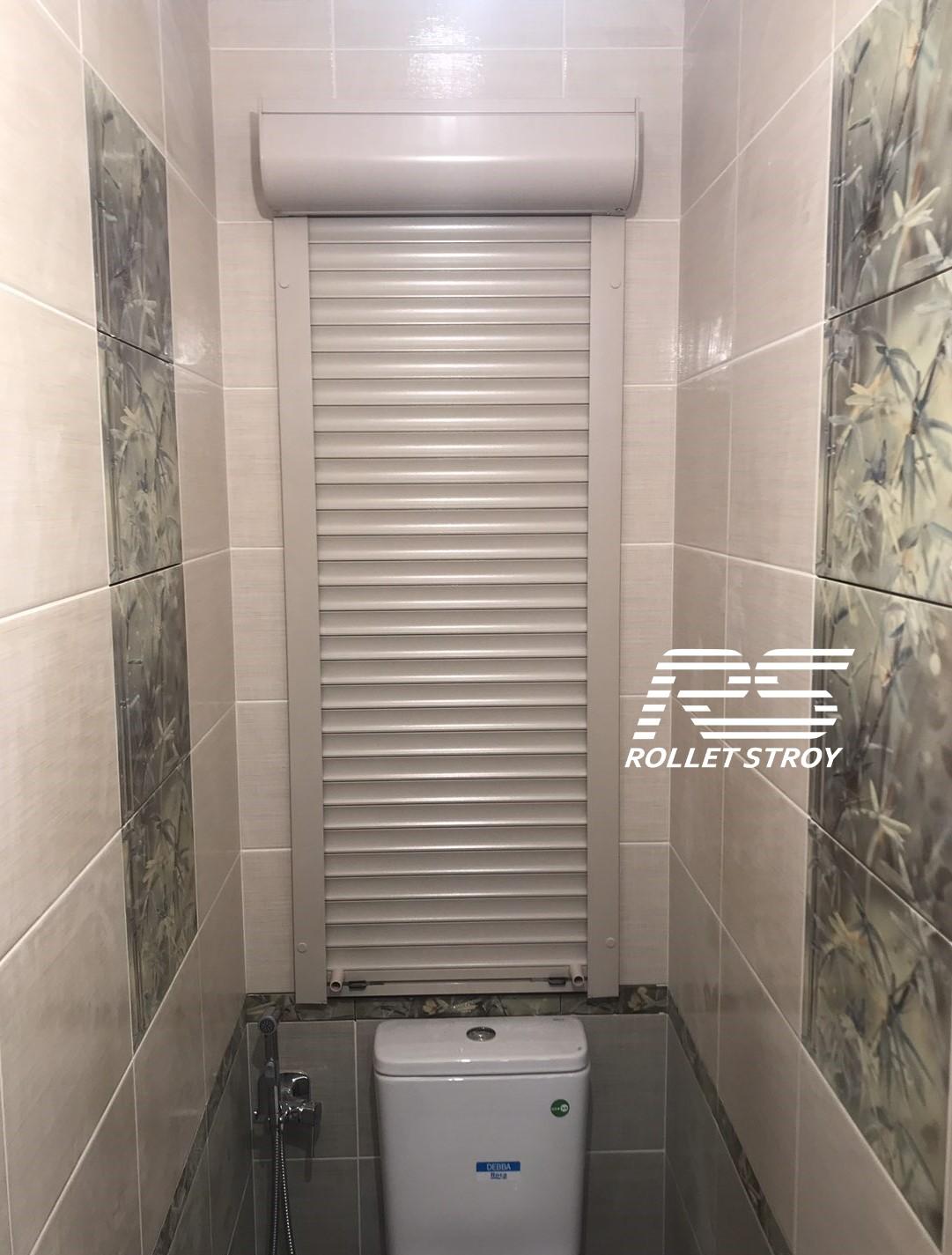 Рольставни в туалет для сантехнического шкафа, накладной монтаж