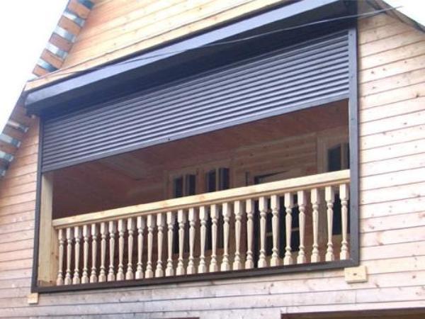Алюминиевые рольставни на балкон