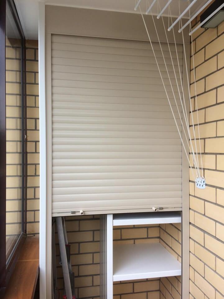 Рольставни для шкафа на балкон