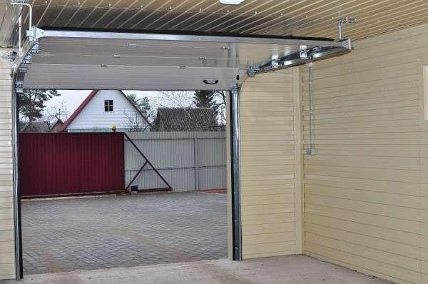 Утепленные секционные ворота