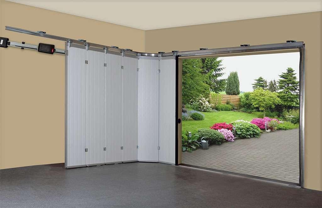Секционные гаражные ворота, монтаж вертикальный