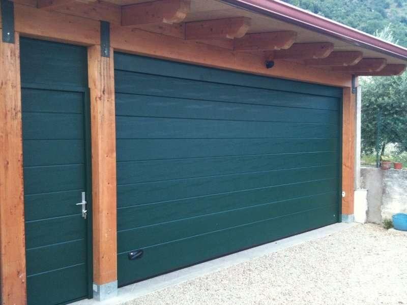 Ворота секционные для гаража, полотно Гофра