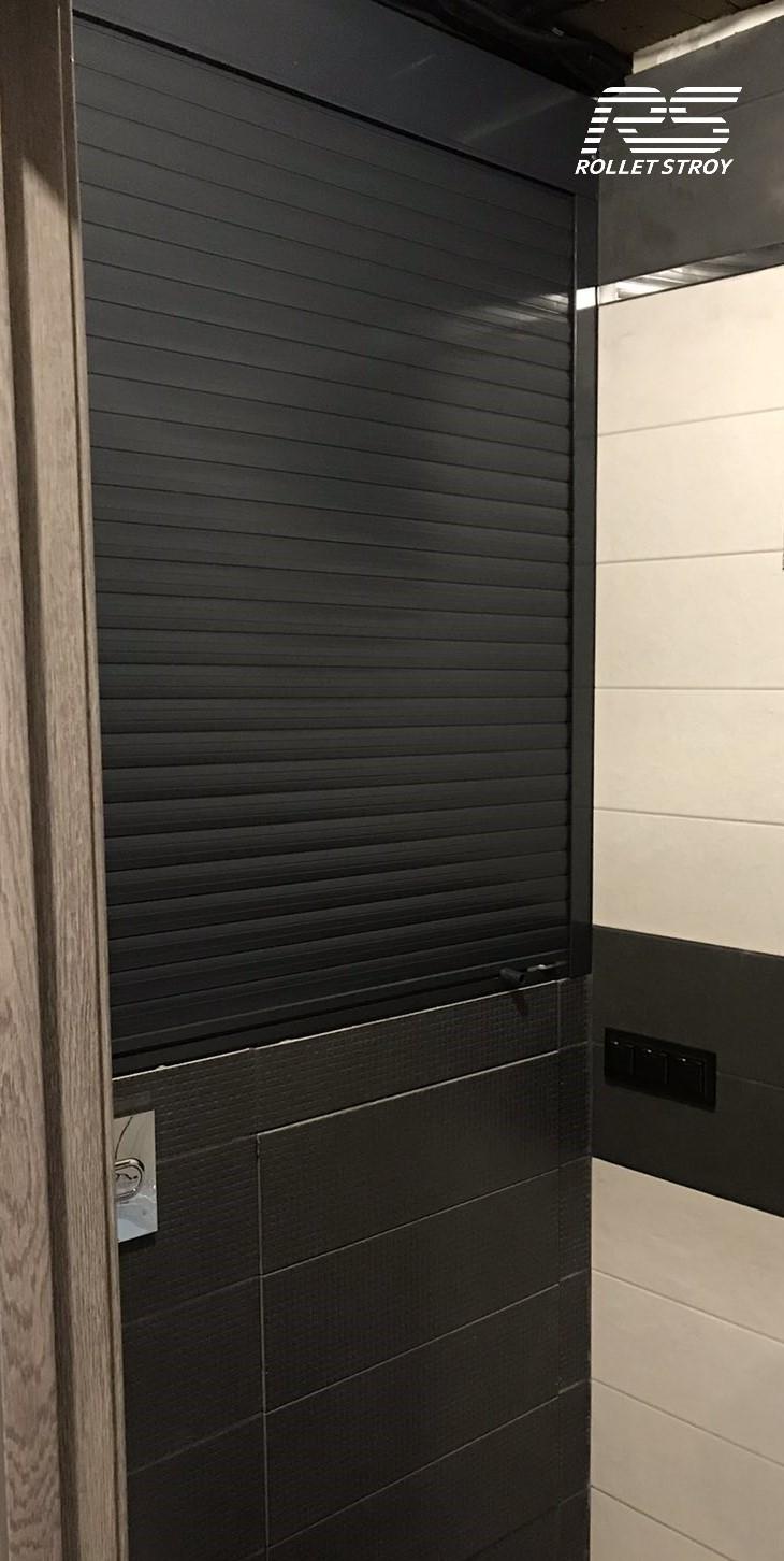 Купить рольставни в туалет, антрацит Ral 7016