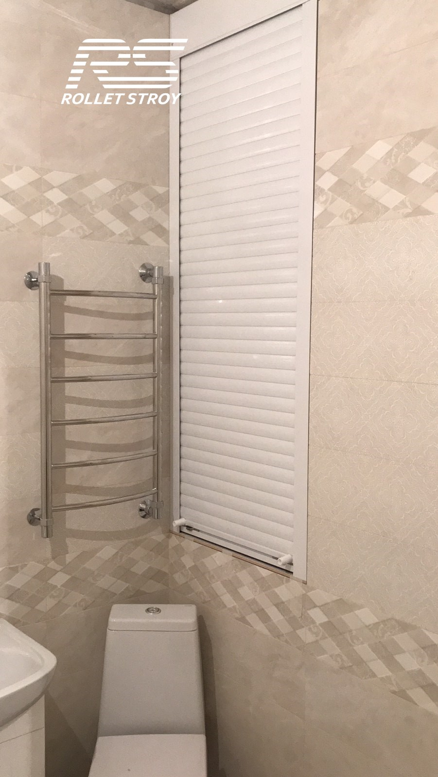 Готовые рольставни в туалет с установкой