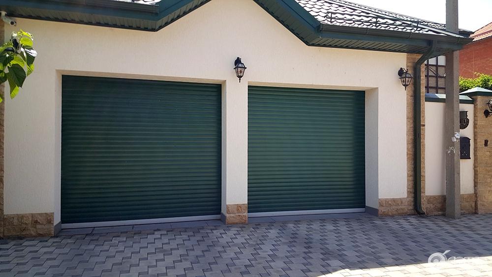 Наружные рольставни ворота для гаража с электроприводом