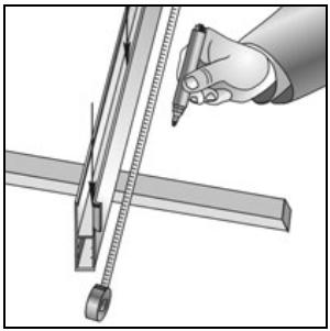 Встороенный монтаж разметка направляющих шин