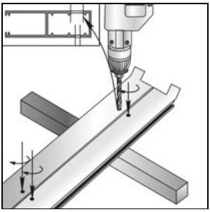 Накладной монтаж отверстия в направляющих шинах